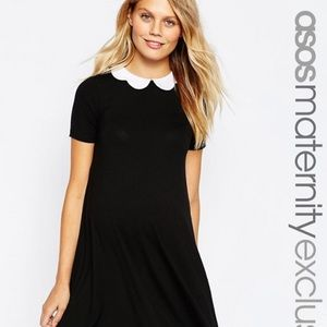 ASOS Maternity Swing Dress with Scallop Collar